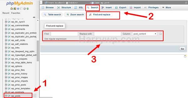 Search And Replace Di WordPress