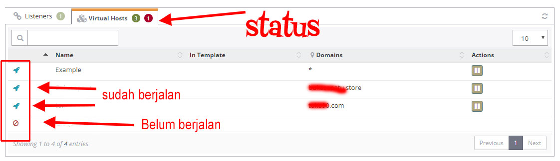 Cara tambah domain di OpenLiteSpeed